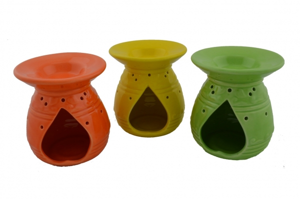duftlampe keramik orange gerillt online. Black Bedroom Furniture Sets. Home Design Ideas